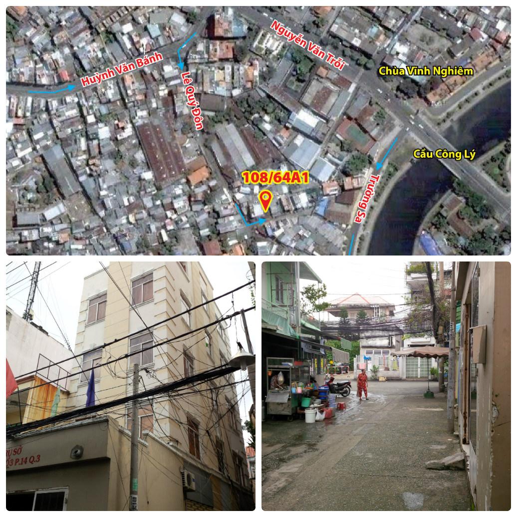 Cho thuê phòng để ở tại 108-64A1 Trần Quang Diệu, P. 14, Q. 3